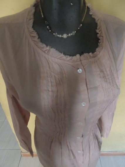 Elegante Blusa De Dama Manga Larga Talla Xl Marca Zara