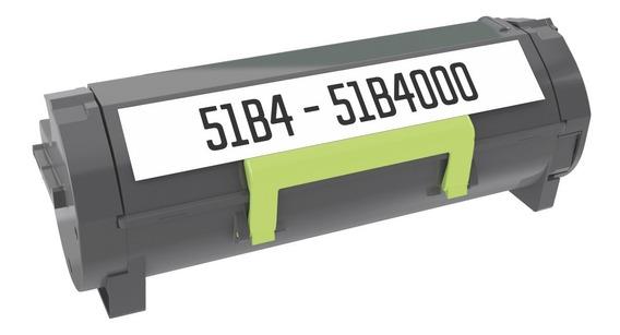Toner Compatível 51b4000 51b4 P/ Impressora Lexmark Mx317 Mx417 Mx517 6.000 Cópias