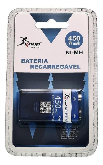 Bateria 9v Recarregável 450mah Kp-bt9v Knup Blister Original