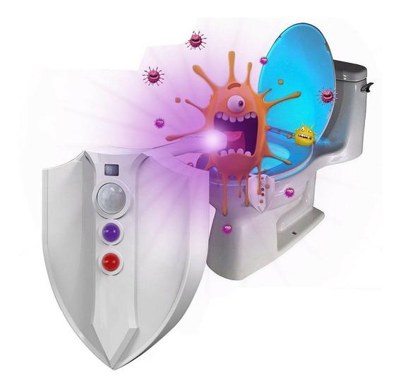 Sensor Luz Uv Mata 99% Bactérias Led 8 Cores Sanitário