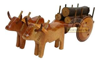 Miniatura De Carro De Boi Sv8392