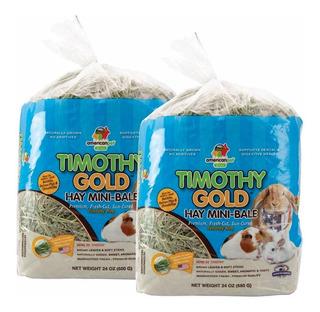 2 Pack Heno Timothy American Pet , El Mejor Para Tu Conejo Cuyo Chinchilla Pues No Contiene Alfalfa, Envío Incluido