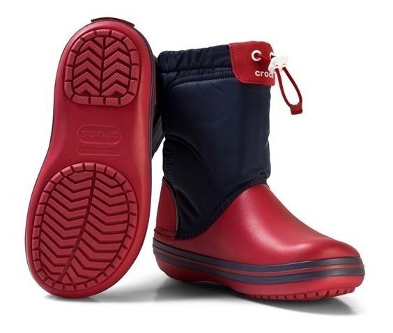 Botas De Lluvia Niños Crocband Lodgepoint Boot Navy Red