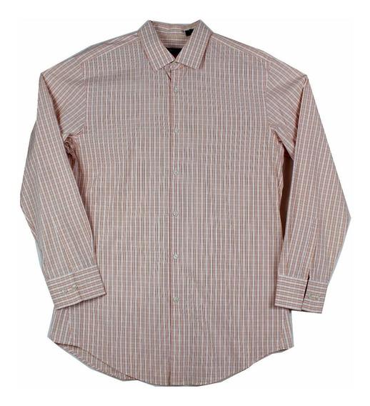 Camisa Boss De Hugo Boss Plaid Cc Para Hombre Talla 16