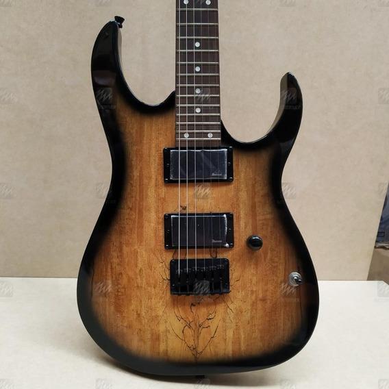 Guitarra Ibanez Grg121 Madeira Natural/preto 2 Cap Humbucker
