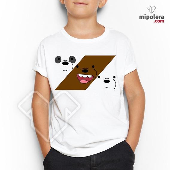 Poleras Estampadas Personalizadas Bare Bears Mps Mipolera