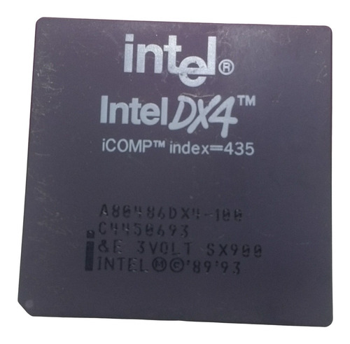 Imagem 1 de 3 de Processador Intel 486 Dx4 100 - Pentium A80486dx4-100 Sx900