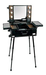 Maleta Maquillaje Profesional Con Tocador Espejo Led 013021