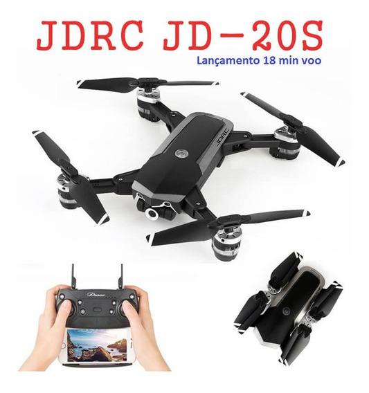 Drone Jd-20s Câm Hd 2mp Fpv Cartão Sd Voo 18 Min Comando Voz