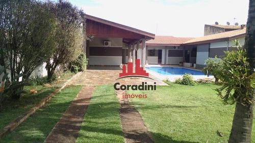 Chácara Com 3 Dormitórios À Venda, 1000 M² Por R$ 900.000 - Parque Dos Pinheiros - Nova Odessa/sp - Ch0088