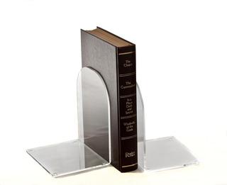 Aparador De Livros Suporte Transparente Par Bibliocanto