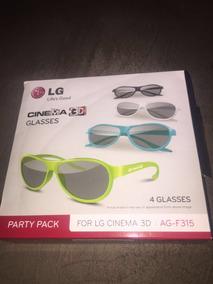 4 Óculos 3d Passivo Para Tv Lg
