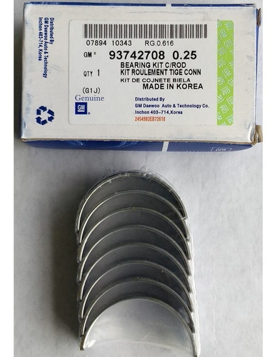 Conchas De Biela Chevrolet Cruze .010 Original Gm