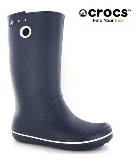 Bota De Lluvia Crocs Crocband Jaunt W :: Navy Roomy Fit