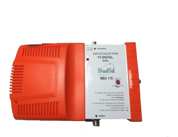 Amplificador Digital Terrestre Brasilsat Mba11e - 10 Un.