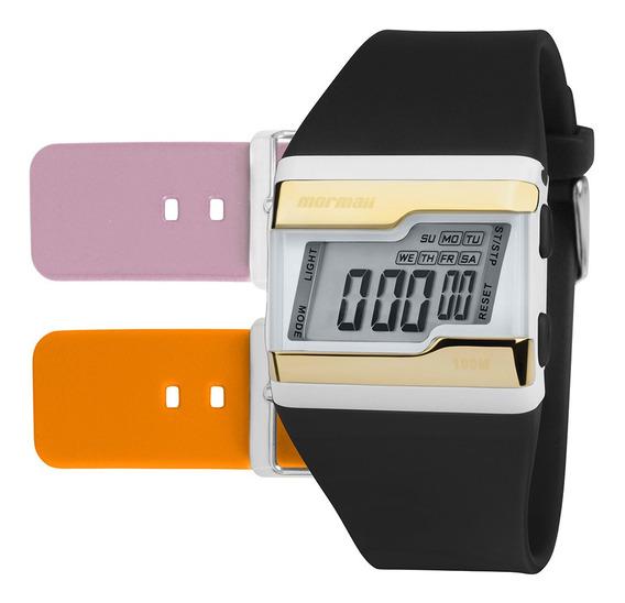 Relógio Digital Mormaii Tp Dourado Fzw/t8e