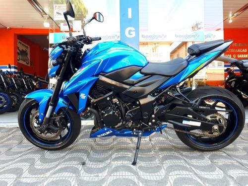 Imagem 1 de 8 de Suzuki Gsx-s750a Azul 2021 Único Dono Impecável