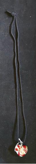 Rdf00347 - Colar Vintage - Pingente Coração - Murano