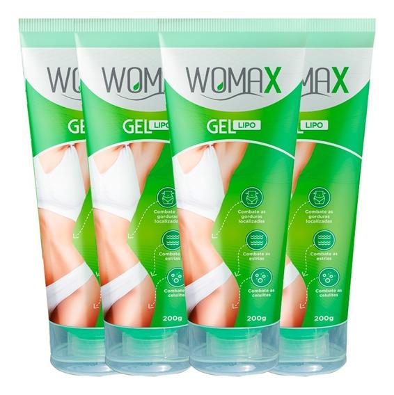 Womax Gel Lipo 4 Frascos - Original Vicaz Garantia 30 Dias