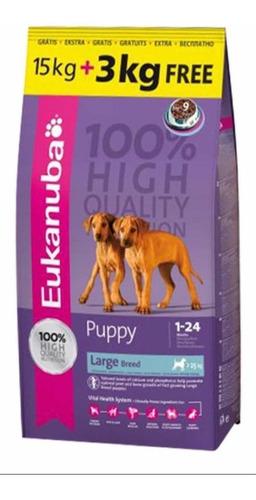 Imagen 1 de 1 de Eukanuba Cachorro Raza Grande 15kg + Snacks + Envio!