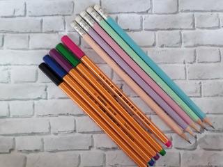 Kit 10 Peças Stabilo - 5 Lápis Pastéis E 5 Canetas