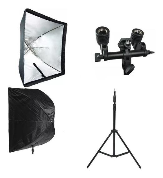 Iluminação Fotografia Filmagem Softbox Sombrinha 90x90 Cm