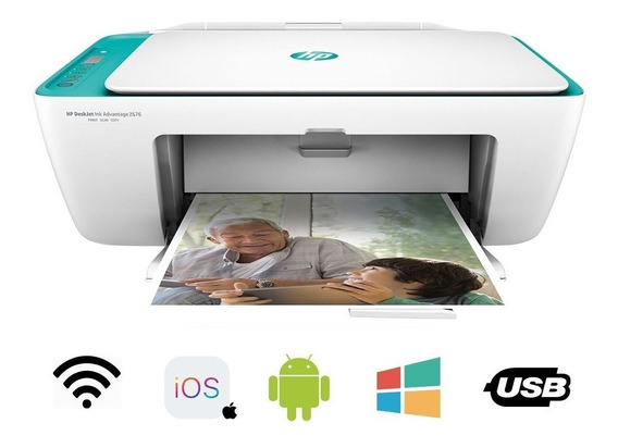 Impressora Multifuncional Hp Deskjet 2675 3 Em 1 Com Wi-fi