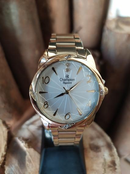 Relógio Feminino Champion Mod Cn25967h - Dourado