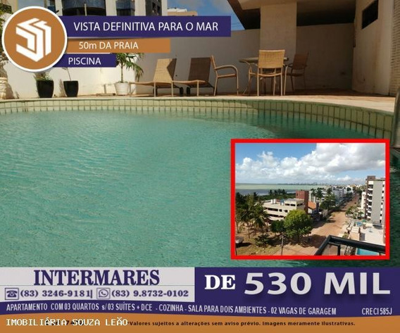 Apartamento Para Venda Em Cabedelo, Intermares, 3 Dormitórios, 3 Suítes, 1 Banheiro, 2 Vagas - 7418