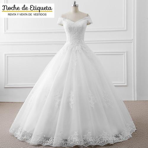 Imagen 1 de 5 de Vestido Novia Nuevo Corte Princesa Blanco/marfil