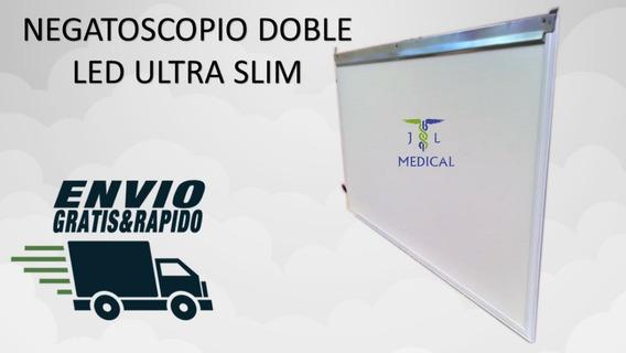 Negatoscopio Doble Ultra Slim Blanco Led