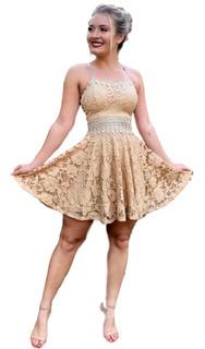Vestido Curto Rodado Festa Formatura Casamento Civil #vlm430