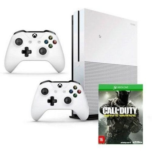 Xbox One S 1 Tb 4k 2controle +kinect +fone Headset +3jogos