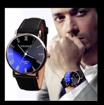 Relógio De Pulso Yazole Original Masculino Social Preto