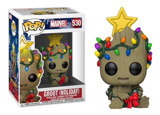 Funko Pop Groot Holiday 530 Marvel Groot Navideño