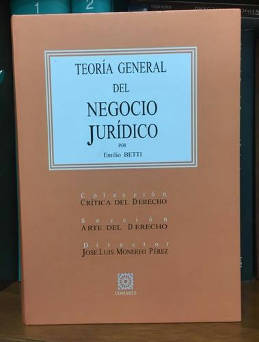 Teoría General Del Negocio Jurídico - Emilio Betti