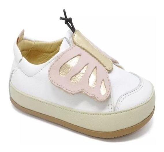 Sapatênis Infantil Feminino C/ Velcro Borboleta - Perolado