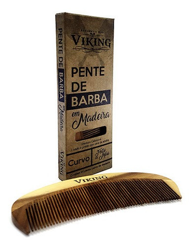 Pente Barba Curvo Viking Authentic Man