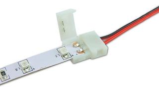Pack X10 Conector Doble Tira Led Monocromática 3528 2835
