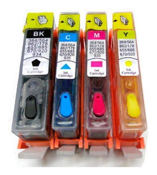 Kit Cartucho Recarregável/carregado 670 Com Chip 5525/3525/4615/25/6525