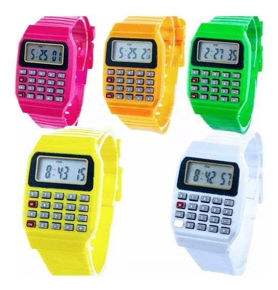 Relógio Calculadora Infantil Várias Cores Oferta Várias Cor