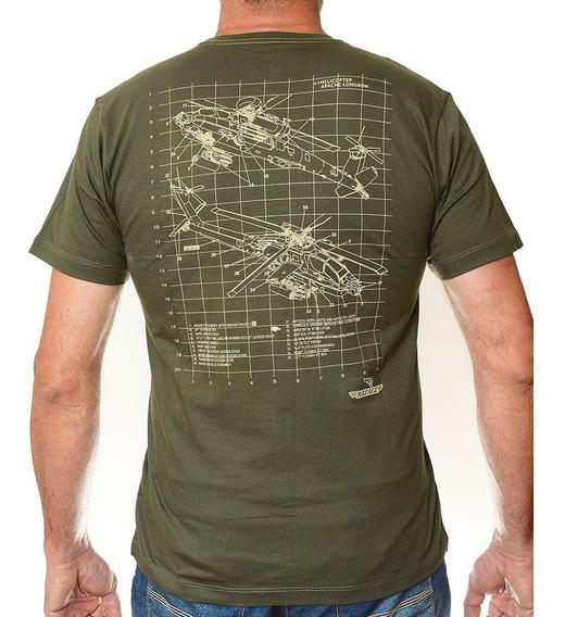 Camiseta Helicop Verde Militar