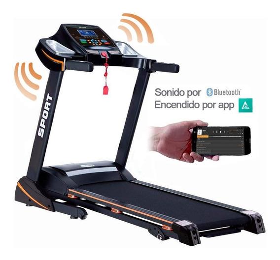 Caminadora Electrica Bluetooth App 2.5hp Bocina Peglable