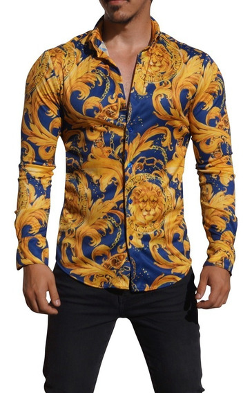 Camisas John Leopard Estilo Resort Estampadas Envío Gratis