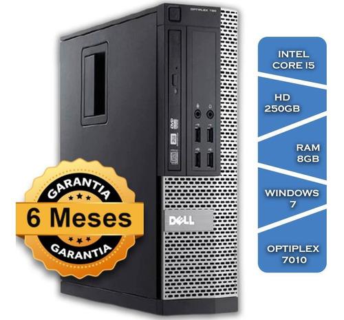 Imagem 1 de 3 de Pc Dell Optiplex 7010 Core I5 3470º Hd250 8gb Ram Win7 Small