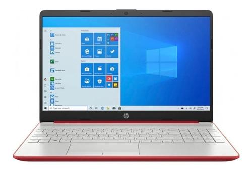 "Laptop HP 15-DW1083WM roja 15.6"", Intel Pentium Gold 6405U 4GB de RAM 128GB SSD, Intel UHD Graphics 1366x768px Windows 10 Home"