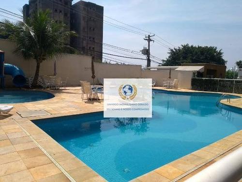 Imagem 1 de 9 de Apartamento Com 3 Dormitórios À Venda, 70 M² Por R$ 431.000,00 - Mansões Santo Antônio - Campinas/sp - Ap0740