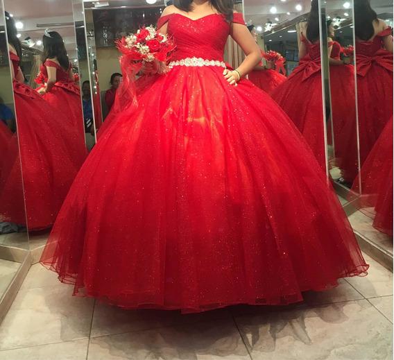 Vestido De 15 Años Color Rojo