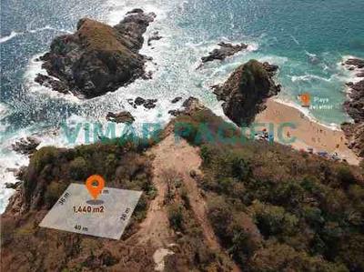 Lote A Orilla De Acantilado En Venta Playa Zipolite