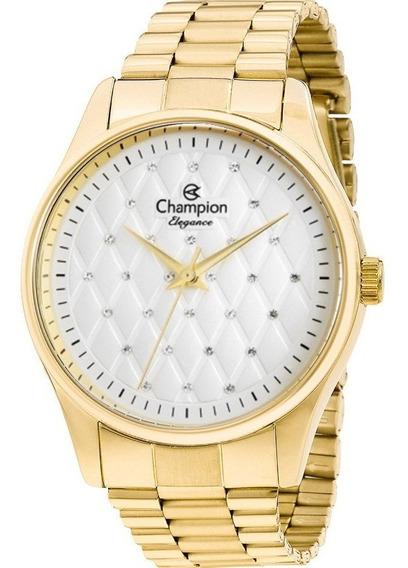 Relógio Dourado Feminino Champion Cn24039h - 28